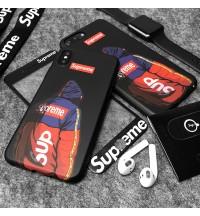 シュプリーム iphone XS/XS MAXケース ガラスフィルム付き ブランド アイフォンXR/Xケース supreme アイホン8 携帯ケース メンズ 激安 芸能人愛用