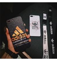 Adidas IPhone Xs/Xs Maxケース  激安おしゃれ ブランド運動風  IPhone Xr カバー  新品登場アディダス アイフォン X/Xsケース セレブ愛用  耐衝撃 ストラップ付き男女向け Adidas iPhone6s/6 プラスケース ペア