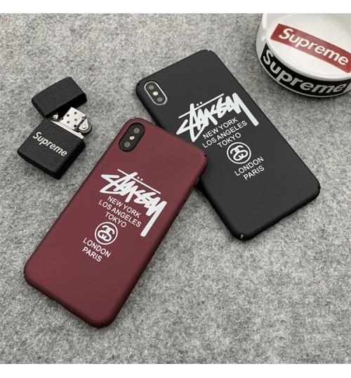 ステューシー iPhone xr/xs max/xsケース ブランド  iphone x/8/7スマホケース 男女兼用 Iphonex/8 Plus保護ケース stussy Iphone XR/XSカバー ジャケット全機種対応