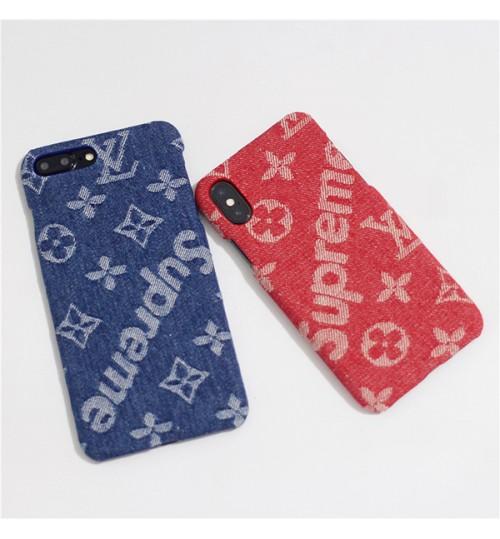 シュプリーム ルイヴィトンのコラボ Iphone XR/XSケース おしゃれ Lvアイフォン 8/8Plusケース SUPREME GALAXY NOTE9 SC-01L/SCV40ケース ブランド iPhone Xs Max/Xs/XR カバー 高級感