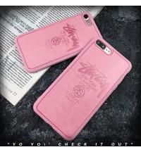 STUSSY iphone xs/xs max/xrカバー ブランド 韓国風 ステューシー IPhone X/8/7 Plus保護ケースレザー ガラス アイフォン6s/6 ケース 新品 個性 男女向け