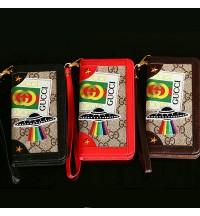 GUCCI IPhoneXs Max/Xrケース手帳型 ブランド アイフォンX/8/8 Plusカバー ストラップ付き ビジネス風アイフォン XR ケース グッチ GUCCI 革製