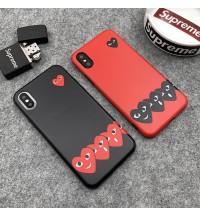 コムデギャルソン iPhone Xs/Xr/X/Xs Maxケース ファッション潮流 COMME Des GARCONS ブランド レデイース IPhone8/7/6 Plusカバー ブランドアイフォンXRケース 芸能人愛用