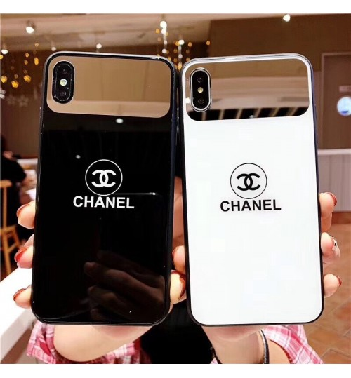 CHANEL iphone XS/XS MAX カバー ブランド シャネル アイフォンXR ケース 通販耐久性ブランドIphone6/6s Plusカバー人気新品シャネル iphone 8/8 PLUSケース鏡付き