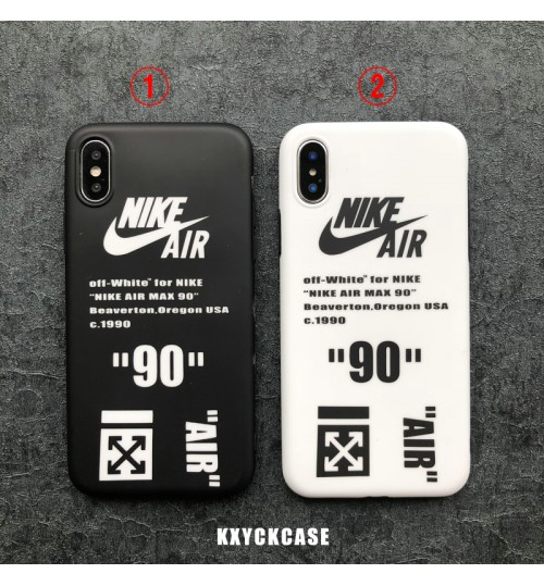 Off White &NIKE iphone xs保護ケースブランド IPhone Xs/Xrケース ブランド アイフォン 8/7 携帯カバーオシャレアイフォンXケース オフホワイトOFF-WHITE IPhoneX/X Plus ケース