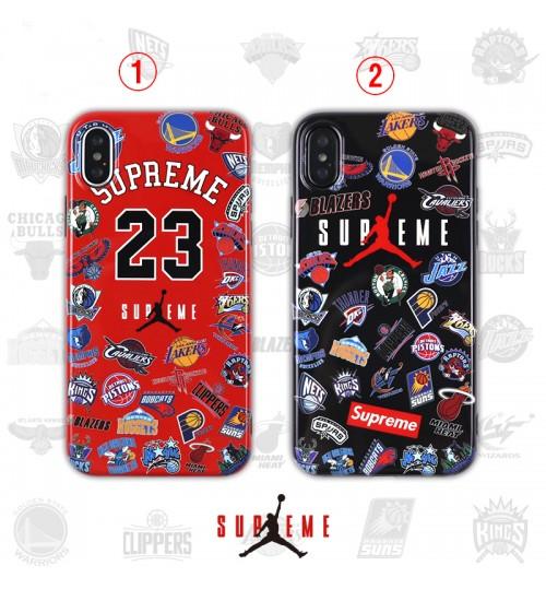 supreme NBA JORDAN iphone xs/xr ケース オシャレ シュプリームiPhoneXs/Xs Max/Xr携帯ケース 新品 ブランド iphone 8/x/7ペア用ケース カッコイイ個性的