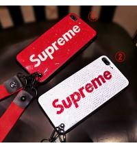 supreme iphone xs/xr保護ケーススワロフスキー風アイフォン8/8plusカバー キラキラSUPREME IPHONE XS MAXケース個性的 ブランド iphone 7/6S/6プラスケース