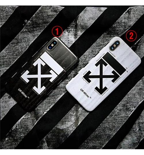 オフホワイト iphone xs ケースブランド アイフォン XRケース 個性なOFF-WHITE IPhoneXs/Xs Max/Xr背面ケースカッコイイIPhone8/8 Plusケースレディースおしゃれブランド オフホワイトIPhone7/7 Plusケース