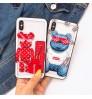 LV supreme アイフォンXR/XS/XS MAX用ケース女性におすすめ可愛いクマiPhone XS ガラスケースくまちゃん付きブランドphone x/8plusケース