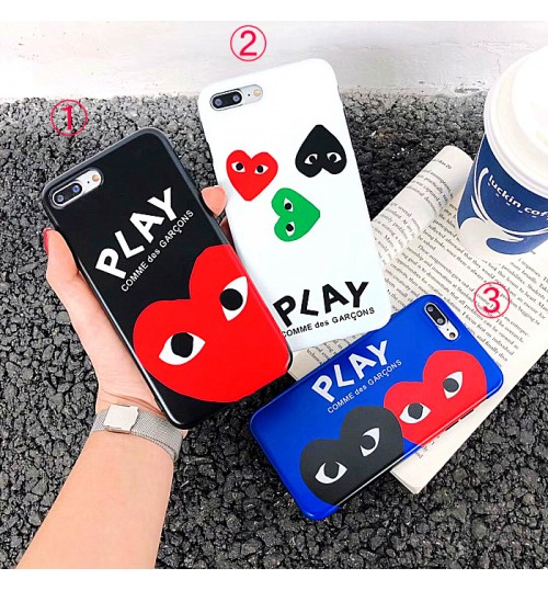 COMME Des GARÇONS Play iphone xs maxケース iphone xsカバー 人気ブランドアイフォンXrケース メンズレディースブランド iphone x/8/7 plusケース ファッション
