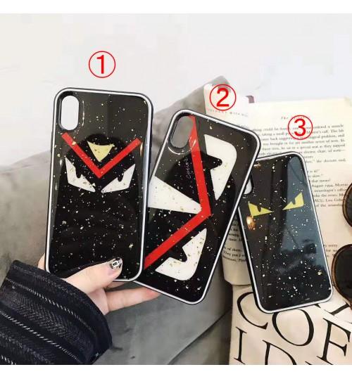 Fendi iphone xs max ケース フェンディアイフォンxs/xr背面ガラスカバー メンズ レディース ペアブランド iPhoneXS/XS MAXケース ブランド アイフォンX/8カバー