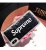 シュプリーム iphonexsケース  流れるハートブランドアイフォンxs maxケース キラキラ 流砂 supreme iPhonexr携帯カバーレディース カメリア シリコン オシャレ 保護ケース ブランド 芸能人 液体 動く