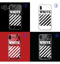 OFF-WHITE iphone XS/XS MAXケース背面ガラス高品質オフホワイトIphone Xs 保護ケースブランド メンズ オフホワイト IPHONE8/8PLUSケース通勤用