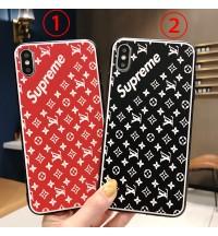supreme ルイヴィトン iPhone XS/XS Max ケース ブランド iPhoneXR/8 カバー 可愛い LVアイフォンXR ケース ブランド  iPhone8PLUS iPhone7 ケース おしゃれペア向け