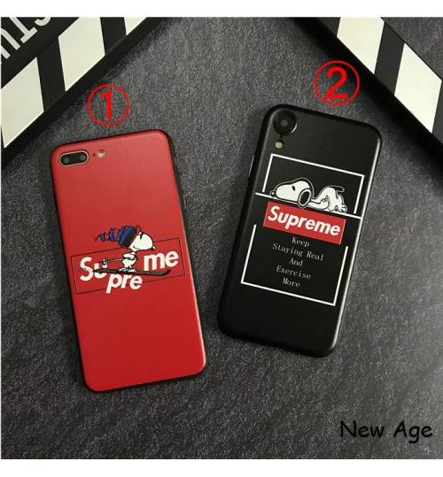 supreme スヌーピー コラボ iphone xs ケース SNOOPY アイフォンxr保護ケース人気 chanel iphone x/8/8 plusケース 海外通販シュプリーム iphonexs max カバー