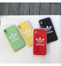 アディダス iphone xs/xs max/xrケースブランド アイフォンxs保護ケースオシャレアイフォンx/8ケース 男性女性 adidas iPhone7 /8/6S プラスケース カバー カップル