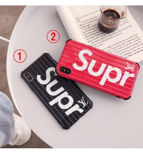 ルイヴィトン ブランドiphone xrケース高級感シュプリームアイフォン xs maxカバーsupreme iphone xs保護ケース個性 iphone 8/xケース