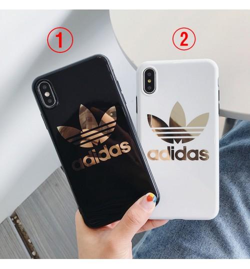 お洒落 adidas iphone xs/xs maxケース アディダスアイフォンxrカバー 個性 ブランドiphone xrケース レデイースiphone x/8ケース ブランド 高級レザー