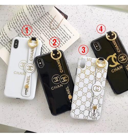 chanel iphone xs ケースレディース gucci iphone xrカバーベルト付きブランドアイフォン8/x/8plusケース 落下防止 シャネル 新作 IPHONEXS MAX/XSケース
