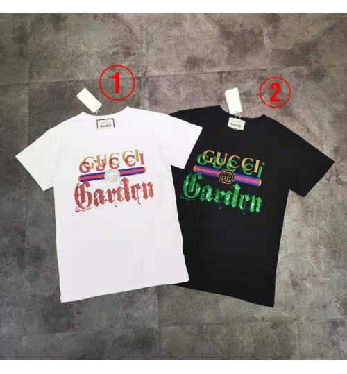 Gucci Gardentシャツ 半袖  刺繍メンズレディース ゆったり夏の服 韓国シャツ ゆったり トップス カットソー コットン 薄手 涼しいtシャツ ブランド