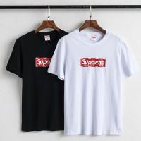 シュプリーム半袖Tシャツ コピー ヴィトン Box Logo supreme 韓国風 カップルtシャツ ペアお揃い tシャツ パロディ黒白