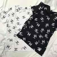 ブランド シャネル chanel風半袖 tシャツ  カットソー激安 フリーサイズ  激安 ペア Tshirt コピー 男女向け 夏 白黒 レディース向け