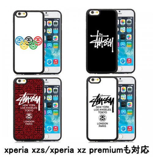 ステューシーGalaxyS9/S9Plusケース xperia xz2/xz2 compactケース Stussy iPhoneXケース エクスぺリアカバー iPhone7/7Plus galaxy s8/s8+携帯カバー ジャケット ブランド