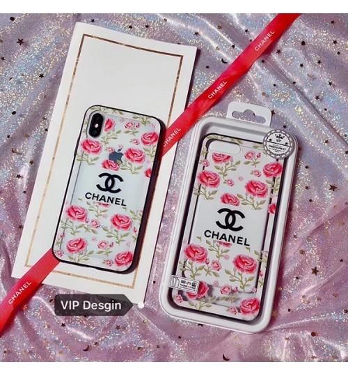 シャネルブランドiPhoneX/8/8Plusケース Chanel CoCo アイフォン7/7Plusカバー シュプリーム 花柄 iPhone6/6プラスケース supreme ガラスケース おしゃれ