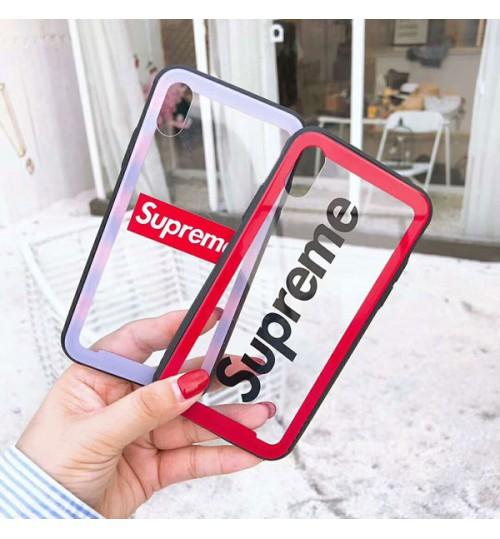 シュプリームブランドiPhoneX/8/8Plusケース  アイフォン7/7Plusカバー シュプリーム iPhone6/6プラスケース supreme ガラスケース おしゃれ