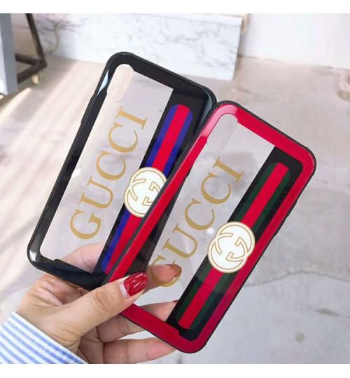 グッチブランドiPhoneXケース  アイフォン8/8Plusカバー グッチ iPhone6/6プラスケース Gucci ガラスケース ガラス
