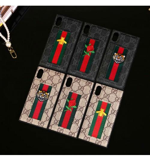 グッチiPhone8/8Plusケース ブランド  iPhoneX携帯カバー・ケースグッチ アイフォン7/7Plus ブランド 刺繍パターン Gucci iPhone8 plusケース 男女向け iPhone 6s/6s plus保護カバー  グッチ風