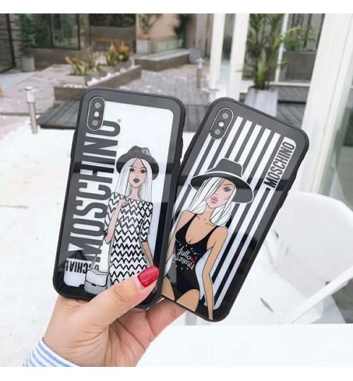 モスキーノブランドiPhoneXケース  アイフォン8/8Plusカバーモスキーノ iPhone7/7プラスケース Moschino レディース iPhone 6と6 plusケース おしゃれ