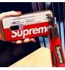 シュプリームiPhoneX/8/9Plus ケースシリコン製 SupremeGalaxyS9/S8Plus カバー おしゃれシュプリームHuaweiP20ケース HWV32カバー ストラップ付き