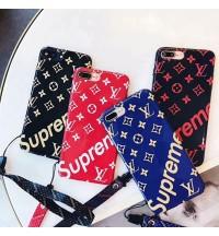 シュプリーム iPhoneX/8/9 Plus ケース ブランド ルイ・ヴィトン アイフォン 7/7Plusケース lv シリコン製  耐衝撃 Supreme iPhone6s/6s plus 携帯ケース ブランド