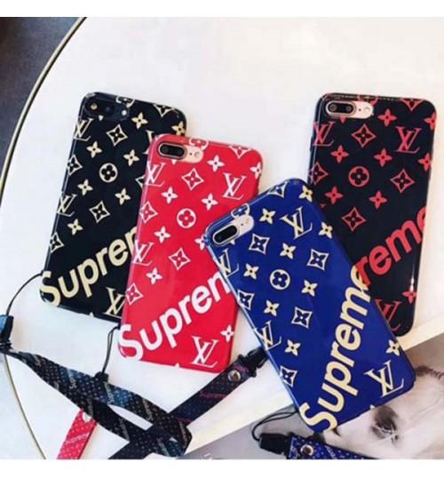 シュプリーム ブランド iPhoneX/8/8 Plus ケース ブラント ルイ・ヴィトン アイフォン 7/7Plusケース lv シリコン製  耐衝撃 Supreme iPhone6s/6s plus 携帯ケース ブランド