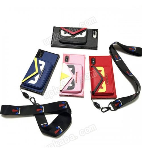フェンディ iPhoneX/8 Plusケース バック型 fend アイフォン8/8plusカバー ポケット付き ブランド フェンディiPhone7/7Plus パロディー ケース 可愛い