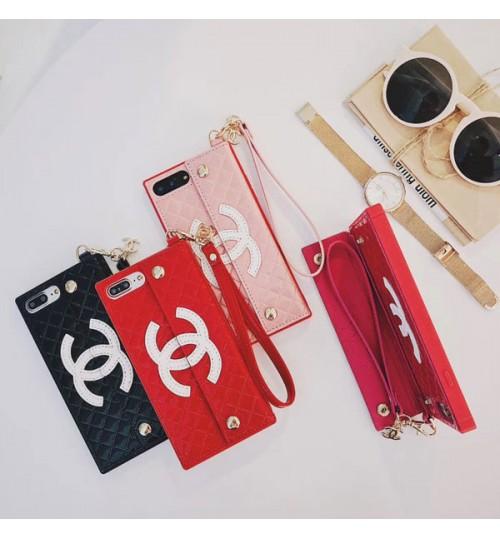 シャネル CHAENL iPhoneX/8/9 Plus ケース ブラント アイフォン X Plusケース ハンドストラップ付き  耐衝撃  chanel iPhone7/7 plus カバー ブランド 激安