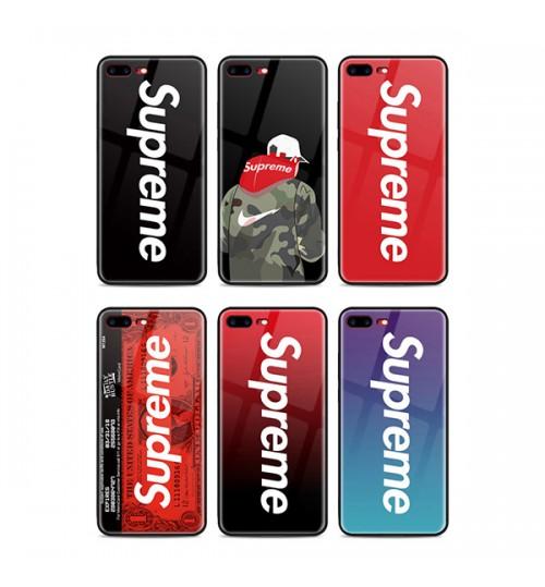 シュプリームHuaweiP20ケースファウェイP20Pro HW-01Kカバー おしゃれ 強化ガラス supreme iPhoneXケース ブランドアイフォンX/7/8/9 Plusカバー 男女兼用