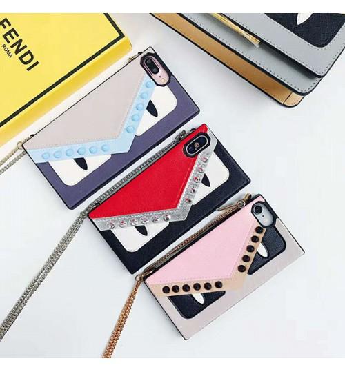 フェンディブランド iPhoneX/X Plusケース FENDI アイフォン9カバー ポケット付き ブランド フェンディiPhone8/8Plus パロディー お洒落