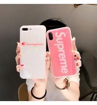 シュプリーム(Supreme)iPhoneXPlusケースおしゃれレディースチャンピオンアイフォンX/8/9Plusカバーブランド 可愛いiphone7ケース