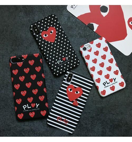 ストリートブランドCOMME des GARÇONS Playシリーズ iphonex/xs plusケースおしゃれ コムデギャルソンiphone9/9plusケース 夜光 ブランドアイフォンXケース メンズレディース CDG iphone8/7/6 Plusケース ペア