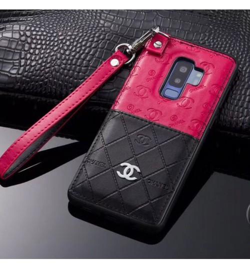シャネルSamsung GalaxyS9/S9+保護カバー CHANELギャラクシーNote9/8ケース メンズレディース ブランドiphone xs max/xr/xケース chanel ストラップ付き iphone8/8 plus携帯カバー おしゃれ