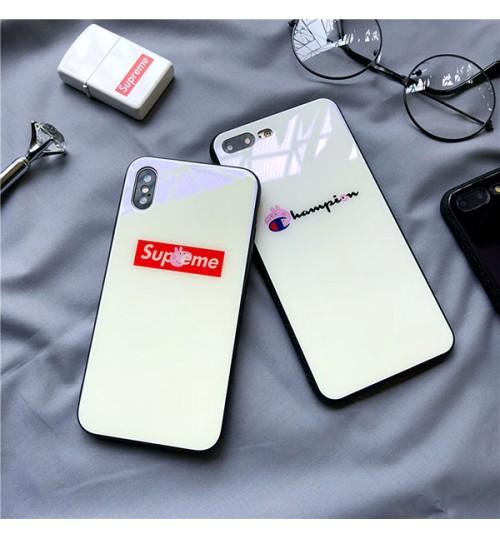 シュプリームiphone x/8/9 plusケースペッパピッグ 可愛い パロディーチャンピオンアイフォンChampion iphone7/8/9 plusカバー おしゃれ supreme