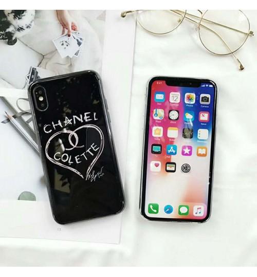 シャネルブランドiPhone Xsケース chanel iphone X/8 Plus 背面ケース ガラスアイフォン7/6s/6 Plus保護カバー レディース愛用シャネル iPhoneケース