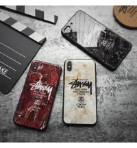 Stussy iPhone Xr/Xs Maxケース iPhoneX/8/8 Plusカバー メンズレディース ステューシーブランド GalaxyS9/S9Plusケース 大理石柄 Huawei P20/P20 Pro携帯カバー 耐衝撃 激安