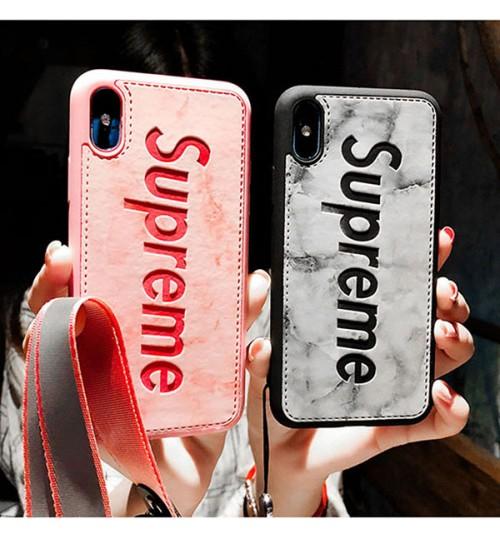 ブランドシュプリームiPhone X/Xs Plusケース おしゃれ セレブ愛用 supremeアイフォンX/8/9 Plusカバー合成レザー 可愛いiphone7/7Plusケース