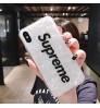 ブランドsupreme iphone x/xs プラスケース キラキラ シュプリームアイフォン7/8/9 plus携帯ケース おしゃれ ストラップホール付き iPhone 6s/6 Plusケース レディース