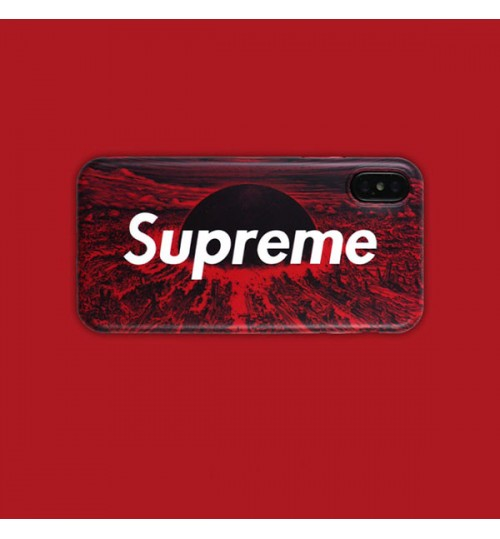 SUPREME AKIRA アイフォン X/Xs Plusケース メンズレディース シュプリームxアキラのコラボ iPhone 7/8/9 Plusカバー おしゃれ アイフォン6s/6s プラスケース supremexakira