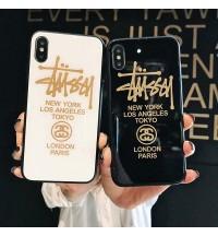 Stussy iPhoneXs/Xs Maxケース ブランド ステューシー iPhone Xr/X カバー 強化ガラス製 ステューシーアイフォン8/7/6 Plusケース 耐衝撃 新品