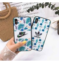 iPhone X/Xs Plusケース アディダス/Adidas おしゃれ ナイキー/NIKE ブランド iPhoneX/8/9 Plusカバー レーザープリント adidas 男女 アイフォン7/6s/6 Plusカバー ペア